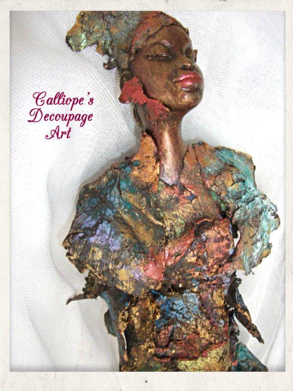 Powertex Δημιουργίες | Calliope's Decoupage Art