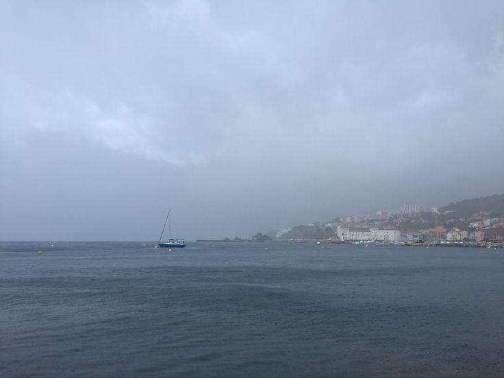 Banyuls sur mer le 13/08/2015, un jour d'orage sur le quai.