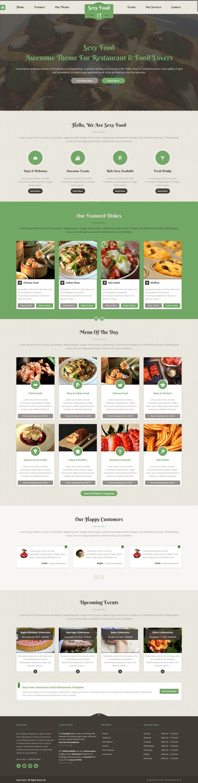 Sexy food restaurant wordpress theme web design
