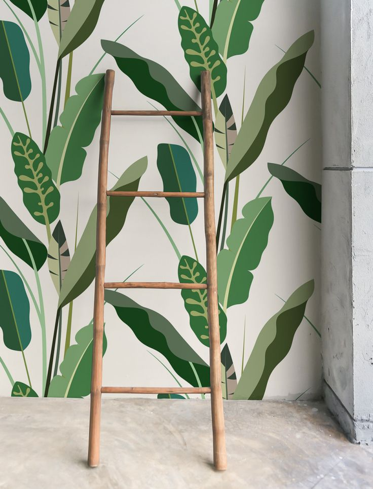 Copacabana Green Wallpaper is a composition of illustrated banana and tropical leaves, beautifully printed onto high quality non-woven wallpaper. It's great for bringing a tropical touch to any room in your house, office or shop.
