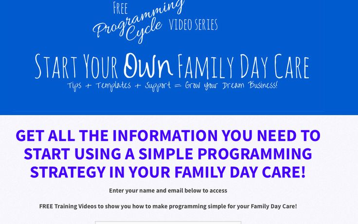 My latest FREE Video Series all about Programming in your Family Day Care
