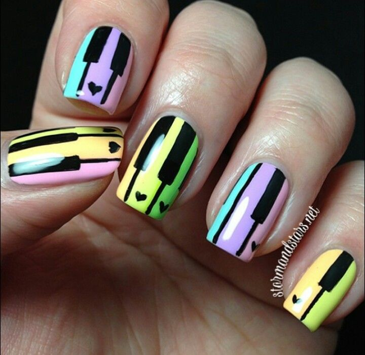Best 25 piano nails ideas on pinterest music nail art music pastel piano nail art prinsesfo Images