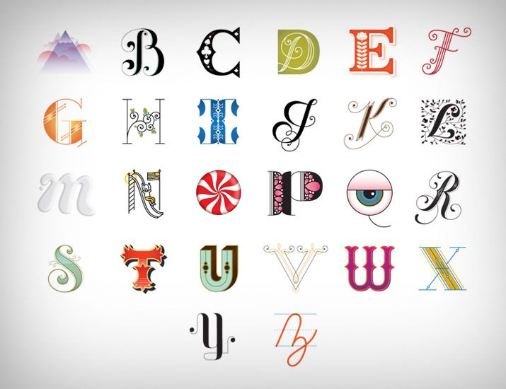 "She has a lot of different ""Drop Cap"" letters here http://www.jessicahische.is/lettering/soooooooooomanyletters"