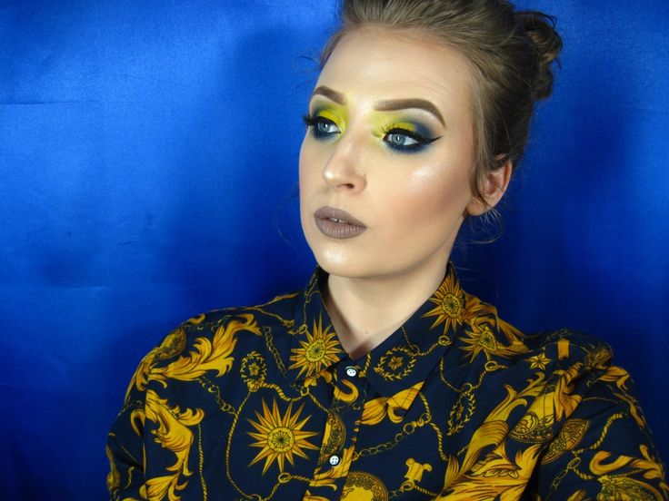 gele oogschaduw
