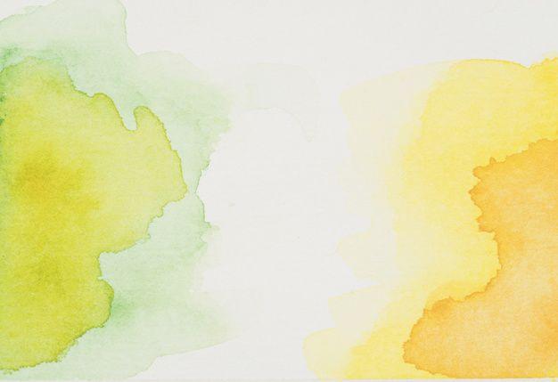 Descarga Gratis Manchas De Acuarela Verde Y Amarillo Mancha De