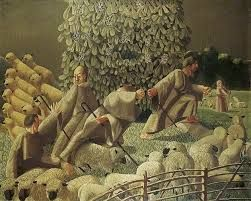 The Shepherds Amazed by Gilbert Spencer