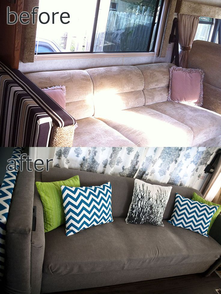 RV / Motorhome Interior Remodel | Not All Those Who Wander... Maybe I could do this to our puppy chewed couch...