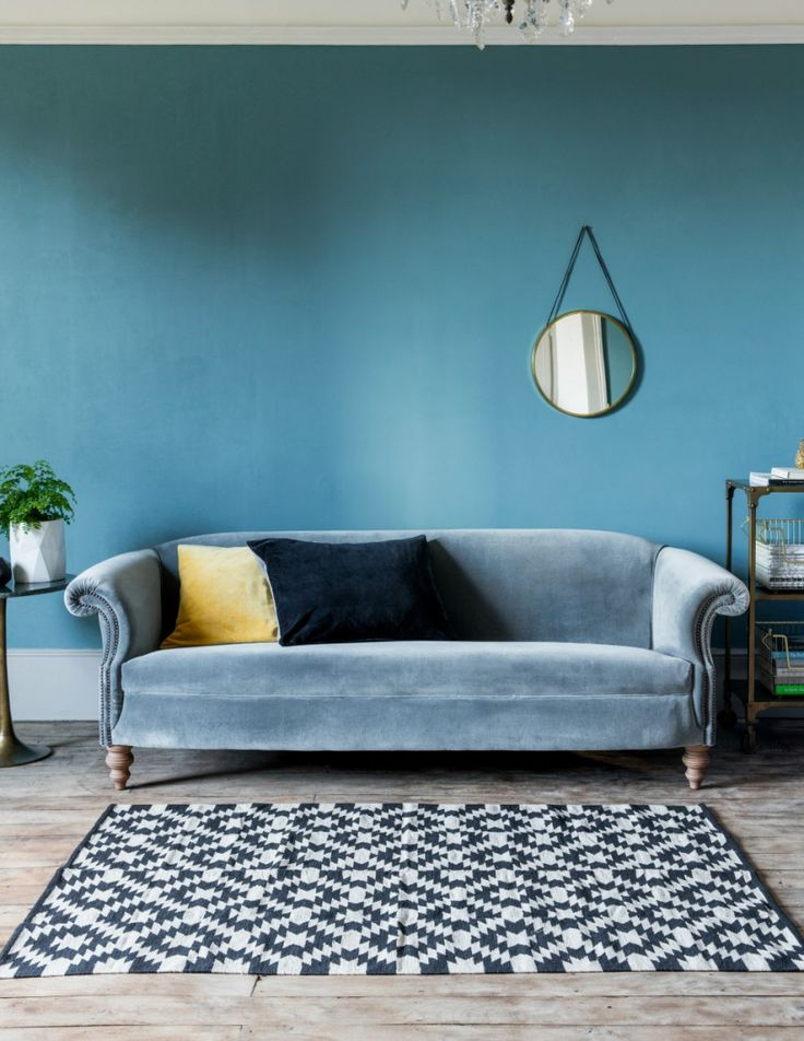 Love the sofa colour - Regency Velvet Sofa by Rose & Grey