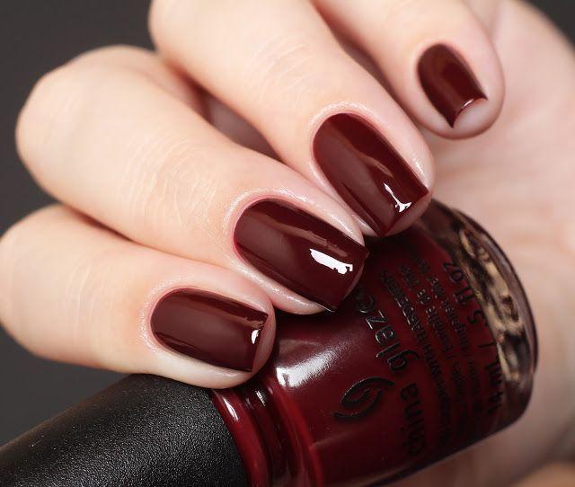 Merlot Nail Manicure - Nail Color Ideas