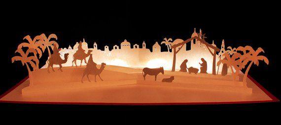 3d Svg Pop Up Layered Card Nativity Scene Etsy Nativity Scene Diy Nativity Scene Pop Up Cards