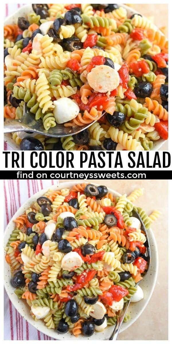 tri color pasta salad summer salad recipe