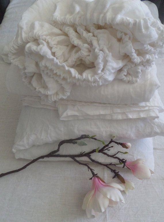 linen sheet set linen fitted sheet, linen flat sheet, Twin Queen Full King size, 100% linen black bedding,black bed sheets,natural bedding