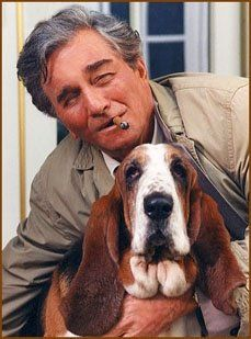 """A Basset Hound named """"Dog"""" appears in Columbo for the first time in the Etude In Black episode. Columbo picks Dog up from the pound and spend most of the show trying to come up with a name for his new friend. Dog would often bark and run at the wrong times, and his magnificently lethargic style made him the perfect dog for Columbo. Dog enjoyed ice cream, swimming in the neighbours pool and watching television. Dog was also believed to be in love with the neighbours Cocker Spaniel."""