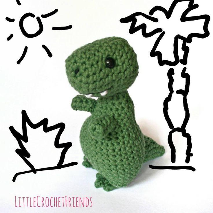 A special order for a special little person. Do you think he will like it? // Un pedido especial para una personita especial. ¿Creéis que le gustará? #JurassicYarn #amigurumi #crochet #handmade #handcraft #hechoamano #cute #dinosaurio #dinosaur #trex #toy #hanmadetoy #muñeco #juguete #cumpleaños