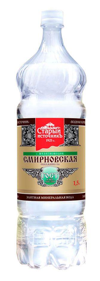 Минеральная вода Смирновская 1.5л. ПЭТ