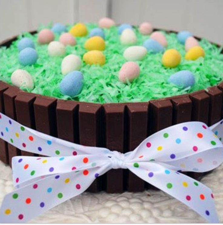Kit Kat edible Easter basket centerpiece