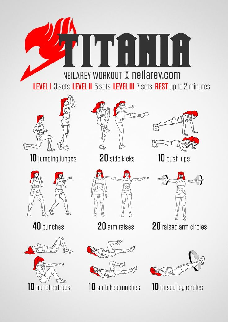 Instructions: Repeat each move with no rest in between until the set is done, rest up to 2 minutes and repeat the whole set again 3, 5 or 7 times depending on your fitness level.