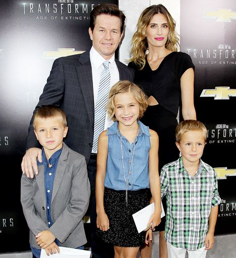 All in the family! Mark Wahlberg brought his gorgeous wife and their adorable children to the New York City premiere of Transformers: Age of Extinction.