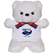 Add Name Future Pilot Teddy Bear