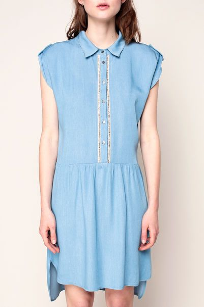 Vestido camisa - pop corn - Azul / Marina de guerra 2