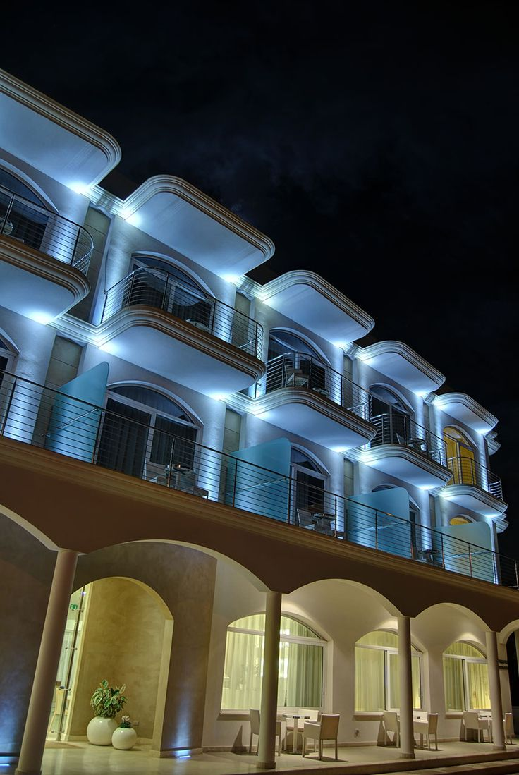 Vespucci Hotel - Porto Cesareo, Lecce, Italy. Light planning // arch. Paola Apollonio. Featured product by L&L Luce&Light: Litus 5.0