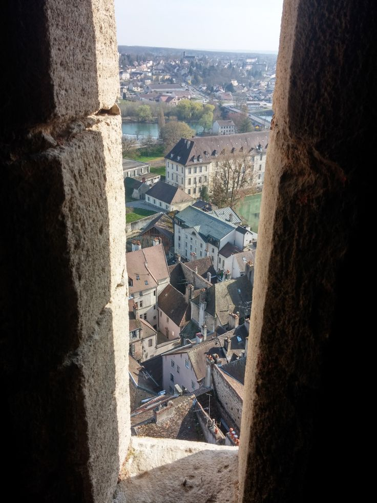 Vue sur #Dole pendant l'ascension du clocher de la #Collégiale