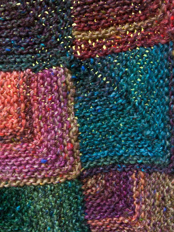 Free Knitting Pattern Mitered Afghan : Putnam - throw made of mitered squares. Free knit pattern ...
