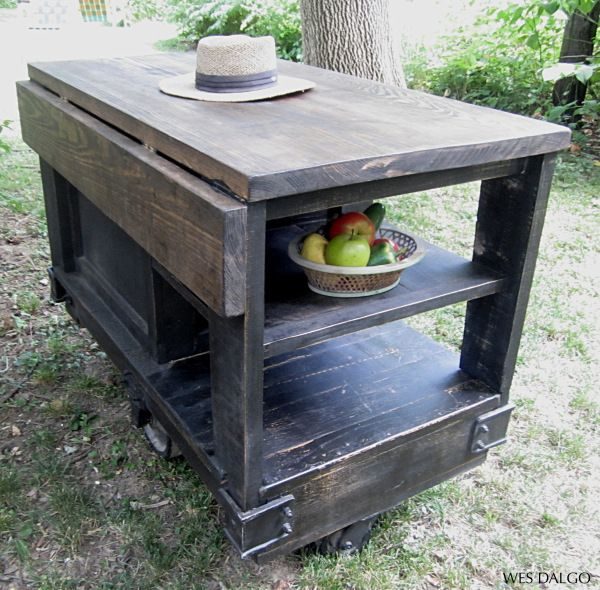 Vintage Kitchen Island Industrial Moving Rolling Cart: 17 Best Images About Kitchen Island On Pinterest