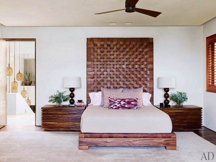 CHIC COASTAL LIVING: Cindy Crawford and George Clooney's Cabo San Lucas Beach Houses bedroom
