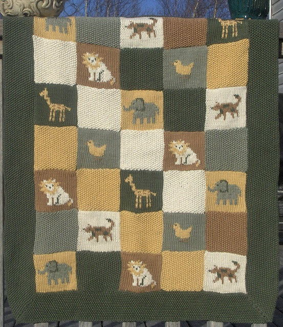 Crochet Baby Blanket Patterns With Animals : animal baby blanket Crochet/Knit Pinterest