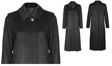 Schneiders Salzburg Womans Wool and Cashmere Long Coat Style 42592 DIANA in Black