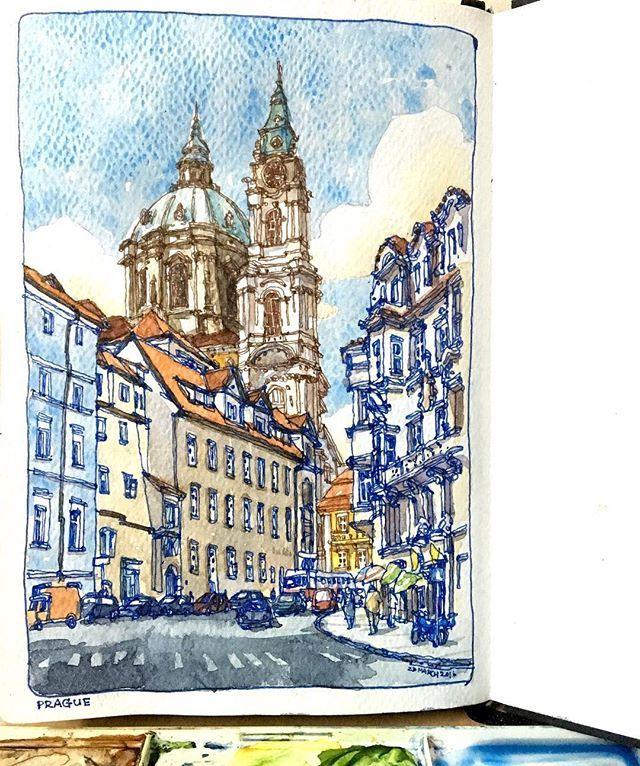 Prague again // ติดตามงาน+ข่าวสารเรื่อง workshop+อื่นๆ ได้ที่ FB page: Louis Sketcher นะครับ ส่วนเสาร์นี้ใครลงทะเบียนworkshopไว้ เจอกันที่วาดสตูดิโอ BTSราชเทวีฮะ✌️ #lllouissketch #ARQSKETCH #arquitetapage #arch_more #prague
