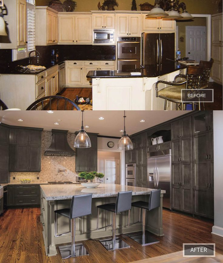 What Started Off As A Plan To Refresh The Outdated Cabinets Turned Into A  Full