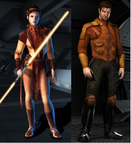Bastila Shan and Carth Onasi from Star Wars: Knights of the Old Republic. One of my favorite games!!
