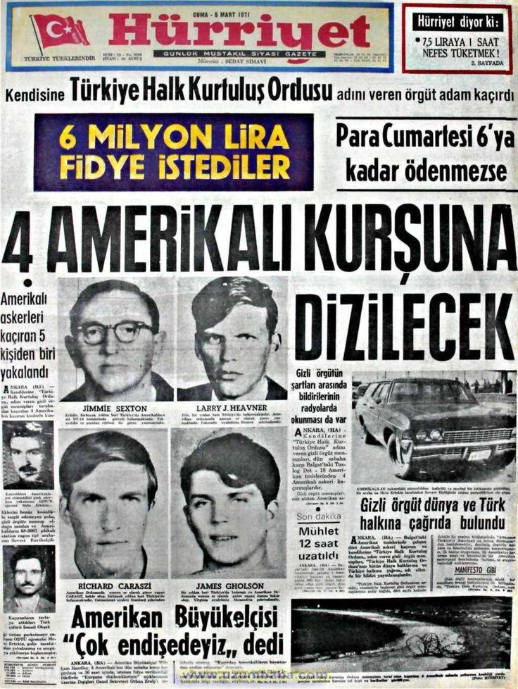Hürriyet gazetesi 5 mart 1971