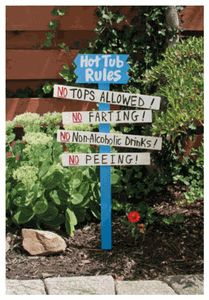 Hot Tub Rules! No non-alcoholic drinks! #nationaldiscountpoolsupplies #spa #hottub