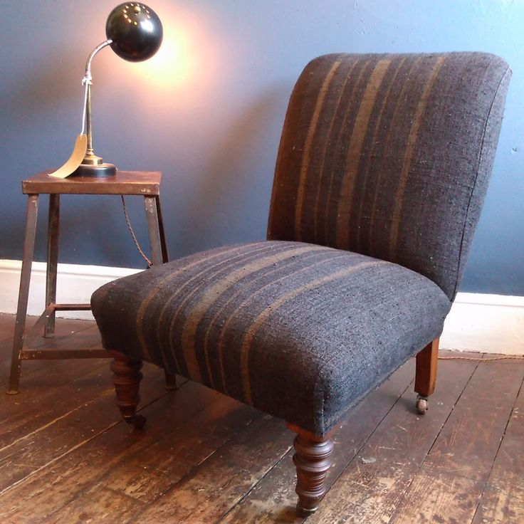 This Victorian Occasional Chair Has Been Fully Reupholstered In A Slubby  Textured Hungarian Linen. The
