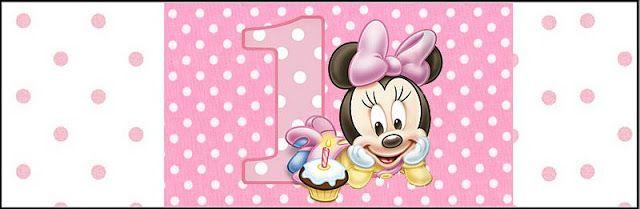 Imprimibles de Minnie primer año 9.