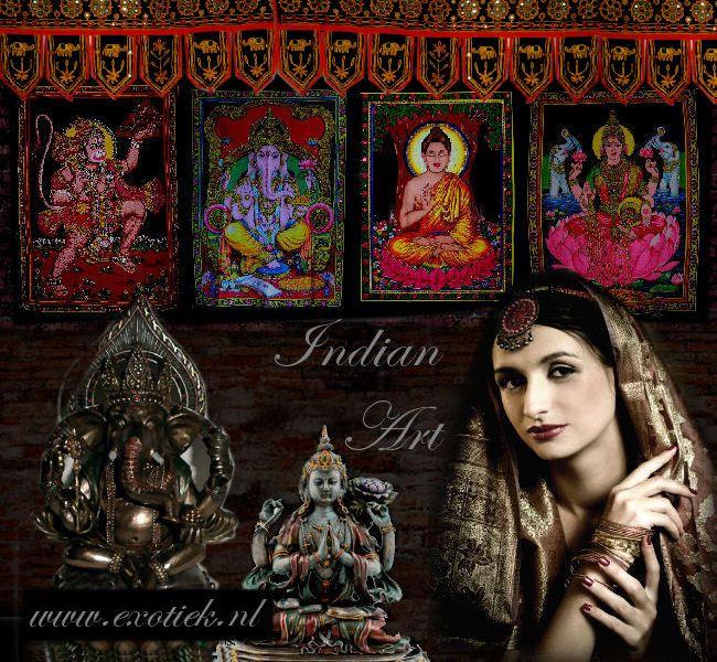 Mooi meisje met Indiase kunst