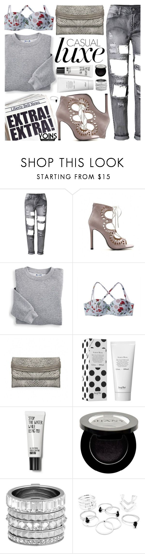 """Yoins IV/2"" by pastelneon ❤ liked on Polyvore featuring Blair, Tory Burch, Shany and Henri Bendel"