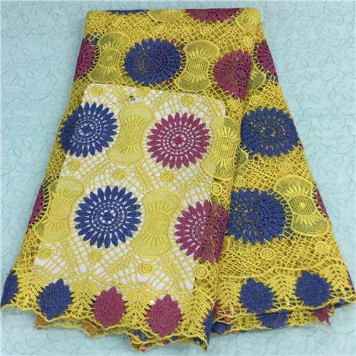 Multi color African Guipure Lace Chemical Lace Cord Lace LKLACE5586-03  https://www.lacekingdom.com/    #guipurelace  #africanlace #cottonlace #cordlace