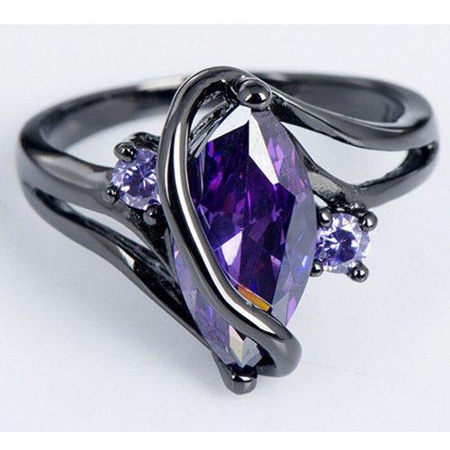 Oval Crossed Black Ring