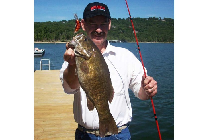 Jerry Hundley with a fantastic largemouth bass caught on a Balista Dyno 60 fishing lure.