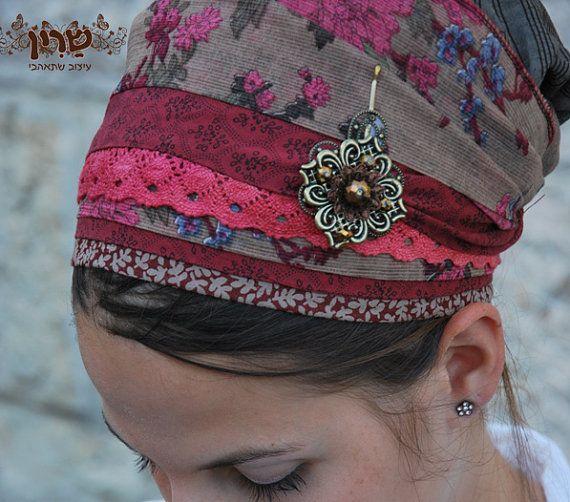 Pink/rot Spitze Sinar Tichel, Haar Snood, Kopftuch, Leiter Bespannung, jüdische…