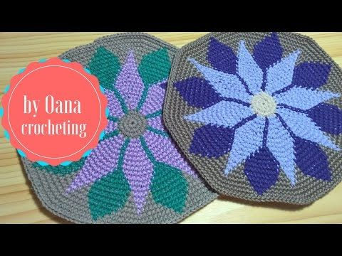Tapestry crochet 1 - YouTube