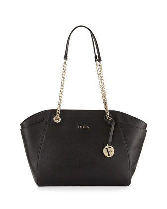 Julia Medium Leather Tote Bag, Onyx by Furla at Neiman Marcus Last Call.