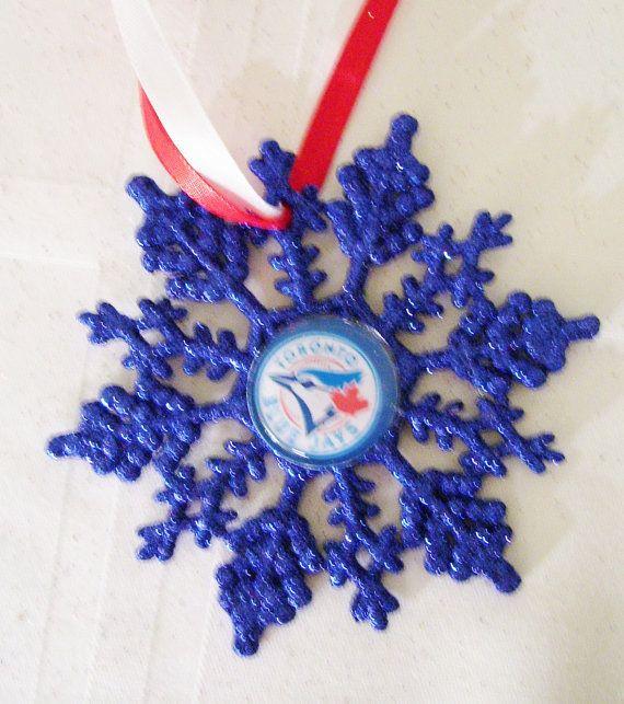Toronto BLUE JAYS Baseball Fans Christmas Ornament by ZZsTeamTime