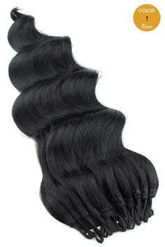 MilkyWay Saga 100% Human Hair Crochet Braiding Hair Loose Deep Pre-Looped Color 1 - Jet Black