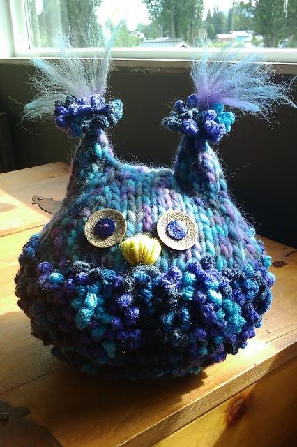 NICKELBEE Studios - one of my original handknit owls - rather podgy isn't he? ;)