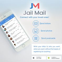 The #JailMail app allows people to send letters and #photos to their incarcerated loved ones directly from their smart phone.